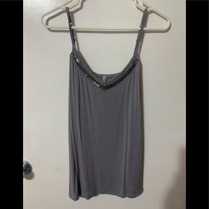 Gray cami with sequins